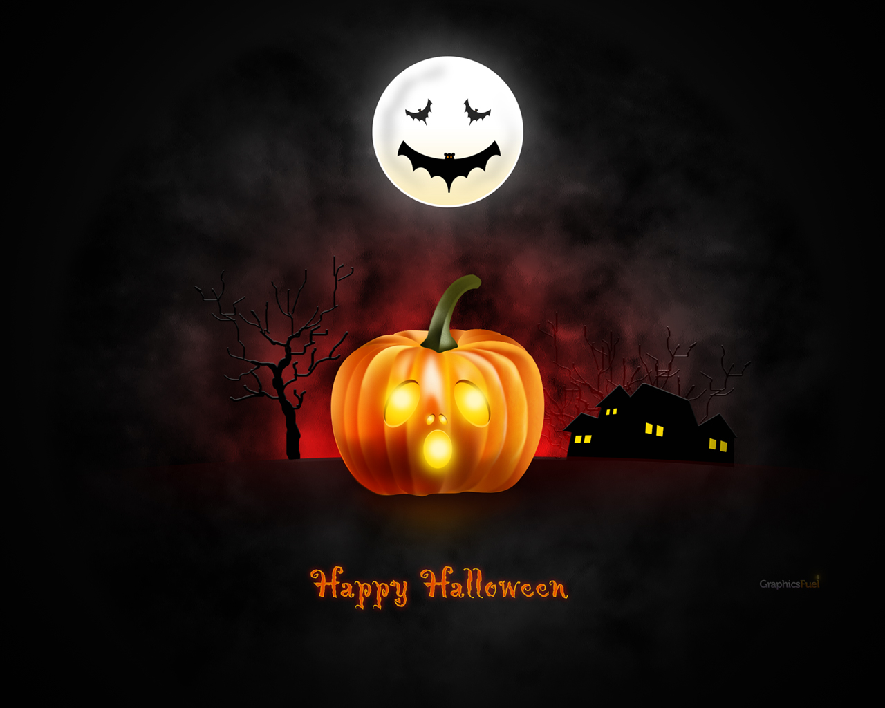 Halloween wallpaper for desktop iPad iPhone PSD icons included 1280x1024