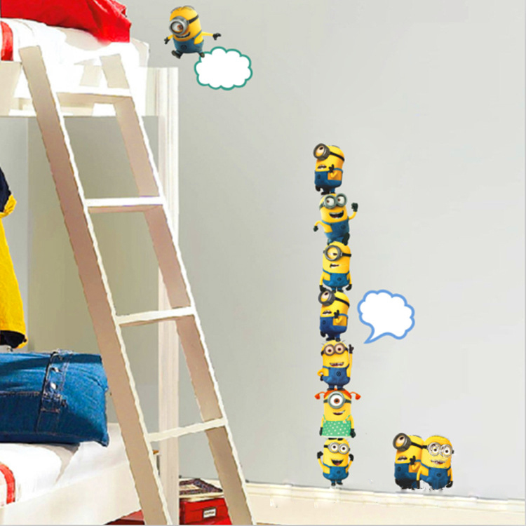 Anime wall wallpaper car laptop desk stickers despicable me Mural 750x750