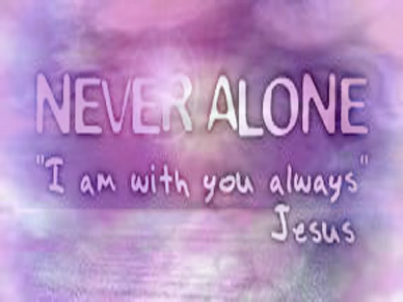 Labels Christian Computer Wallpaper Never Alone 800x600
