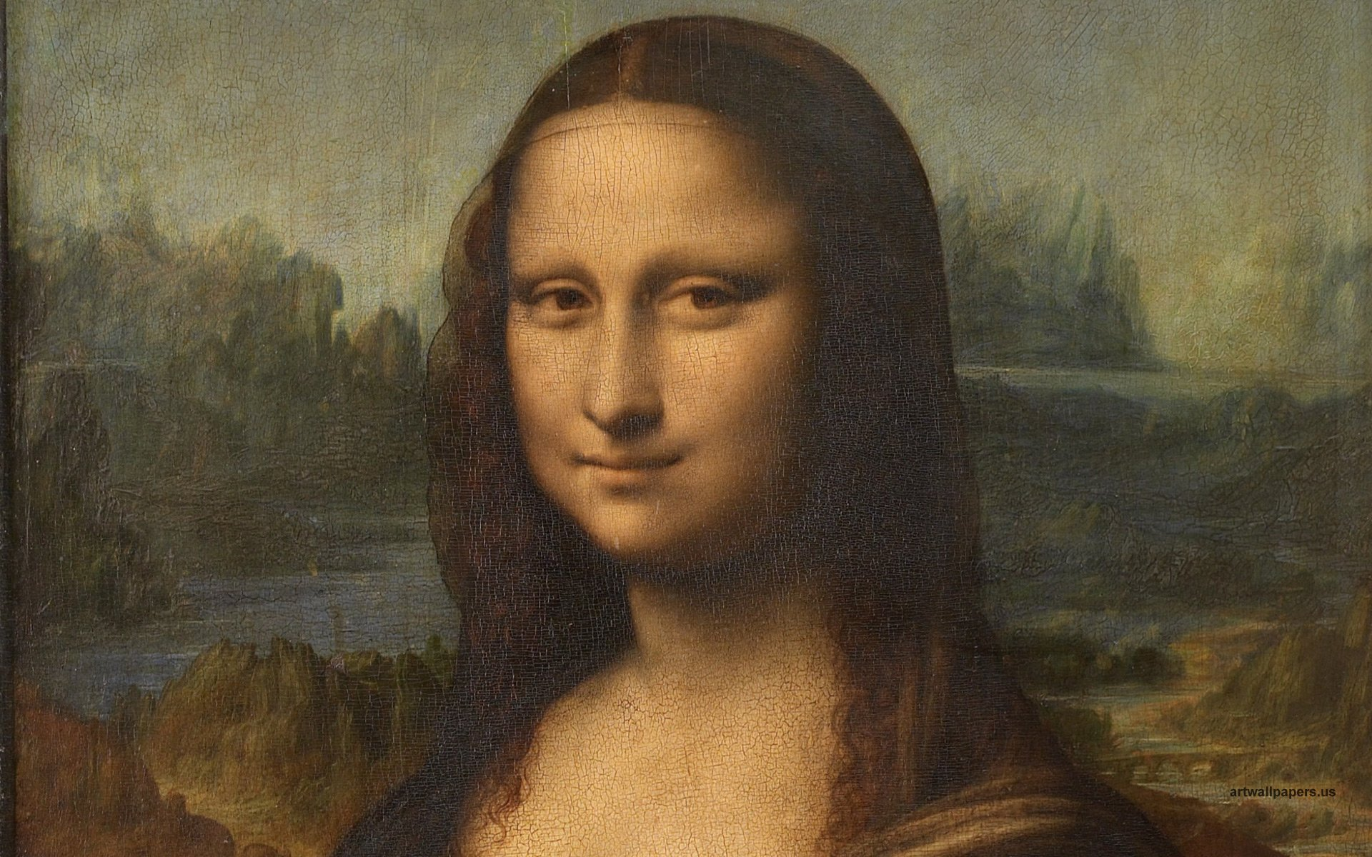 Mona Lisa Wallpaper Leonardo da Vinci Wallpapers HD Widescreen 1920x1200