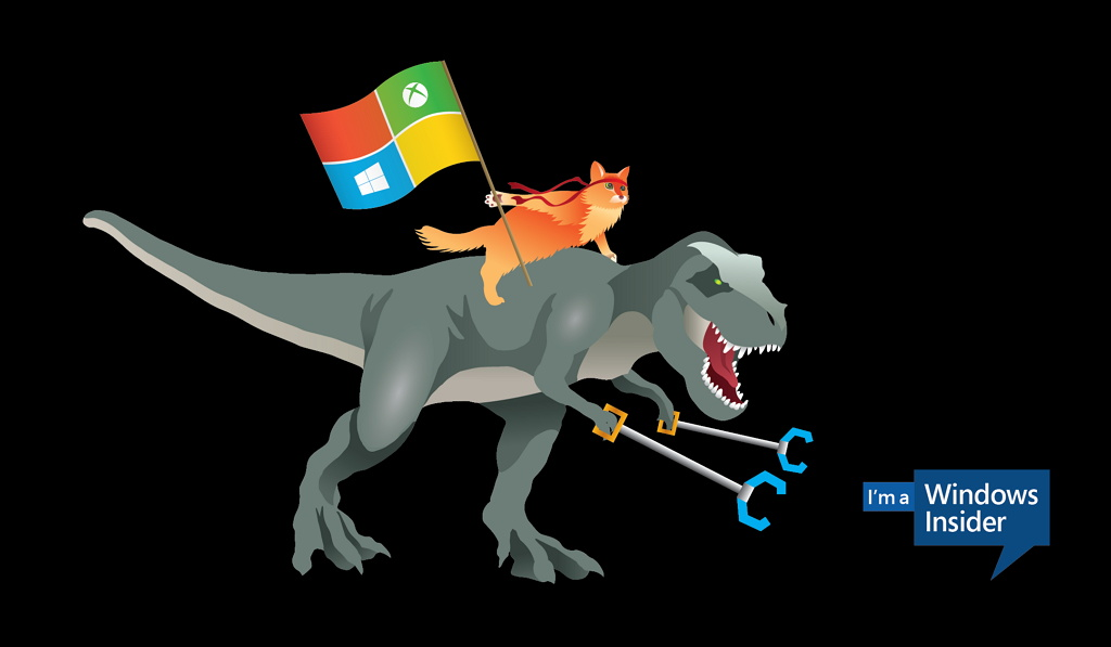Microsoft releases new ninja cat images including one riding a T Rex 1024x597