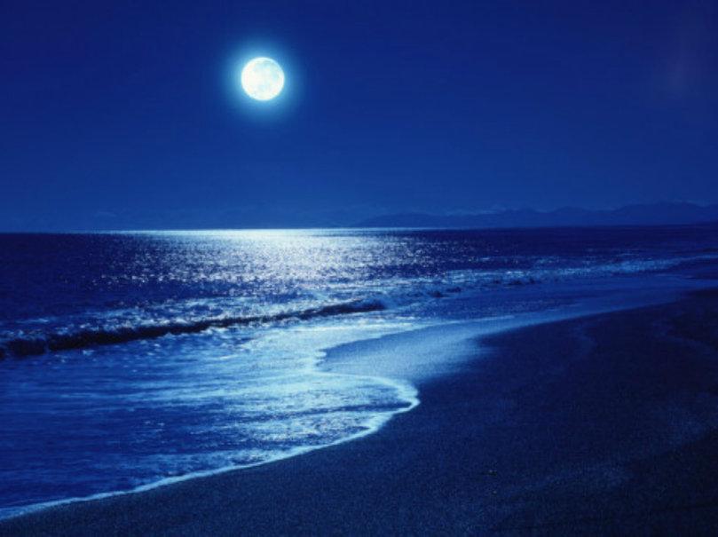 full moon over the sea wallpaper   ForWallpapercom 809x605