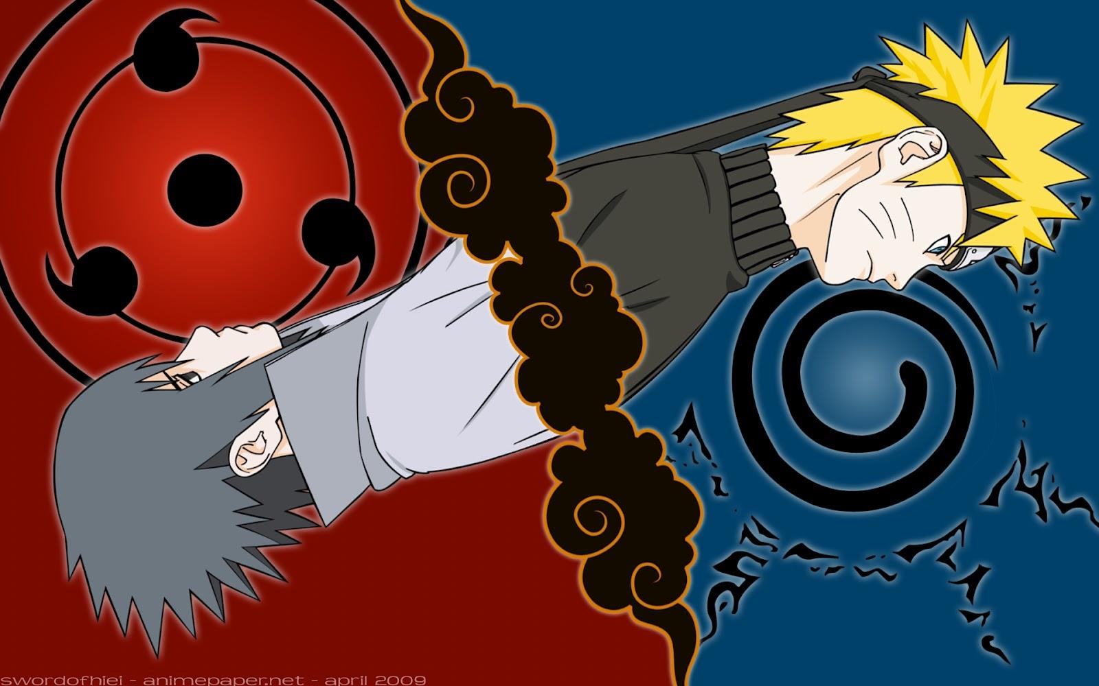 Wallpapers HD Naruto Uzumaki y Sasuke Uchiha 1600x1000