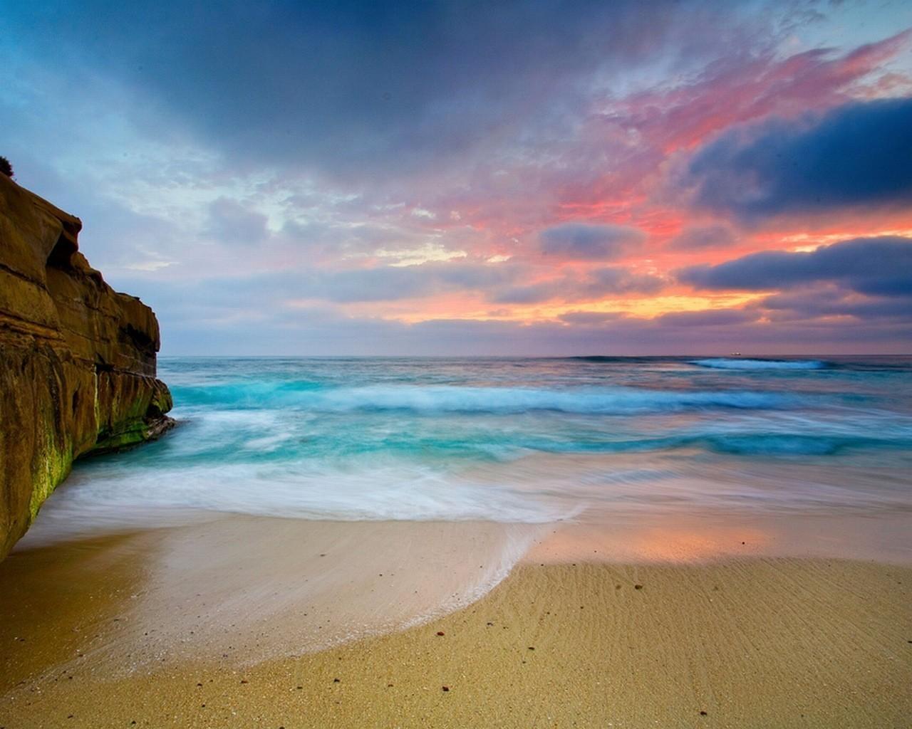 Ocean Beach Wallpaper 1280x1024 Ocean Beach Sand Seascapes 1280x1024