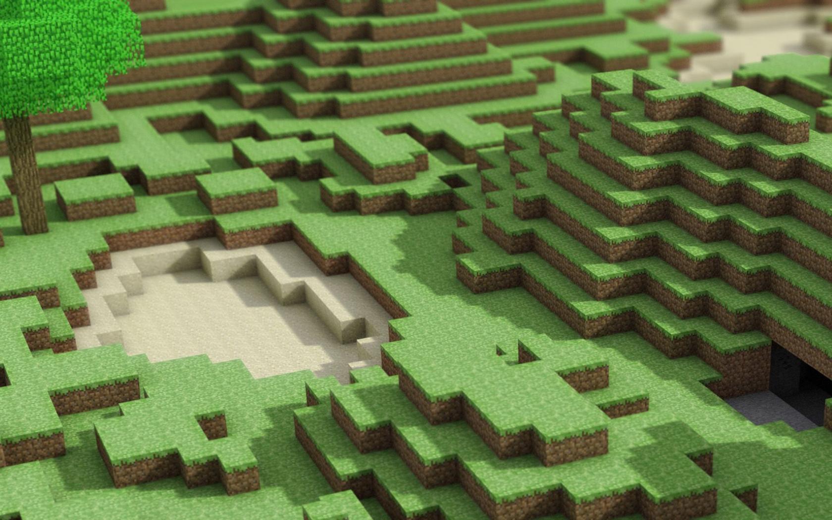 Minecraft Google Wallpapers Green Hills Minecraft Google Backgrounds 1680x1050