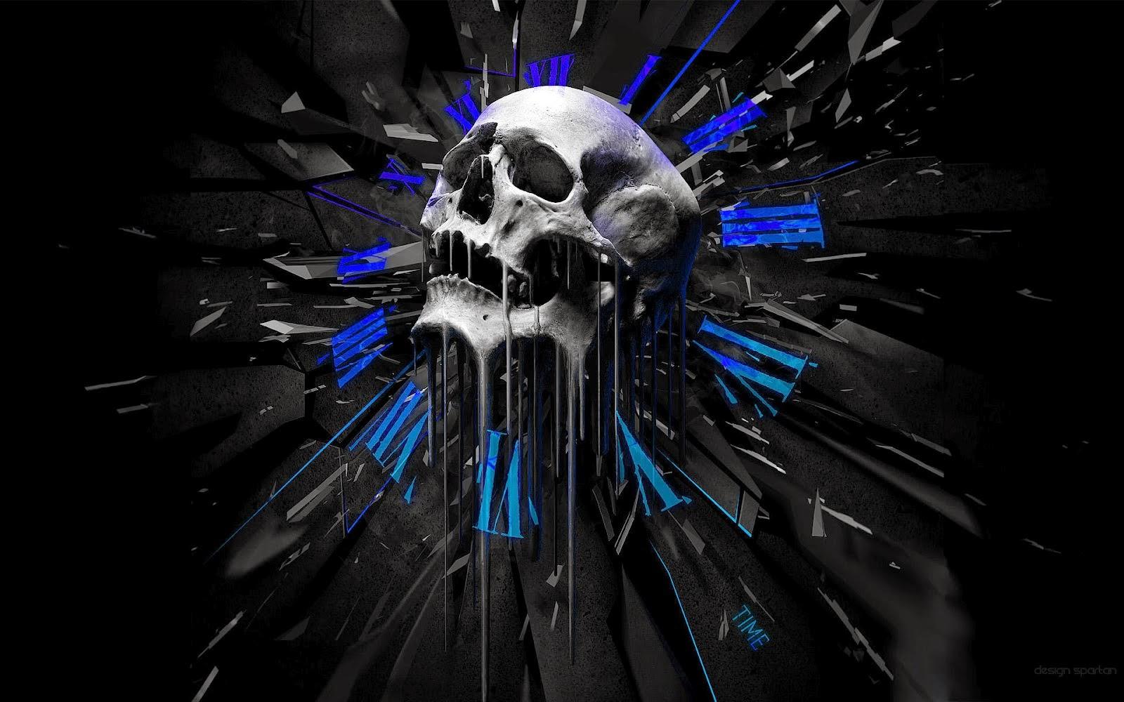 Skull 3D Wallpaper AMMA 1600x1000