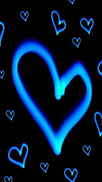 wallpaper blue hearts download wallpapers for your Nokia C6 360x640