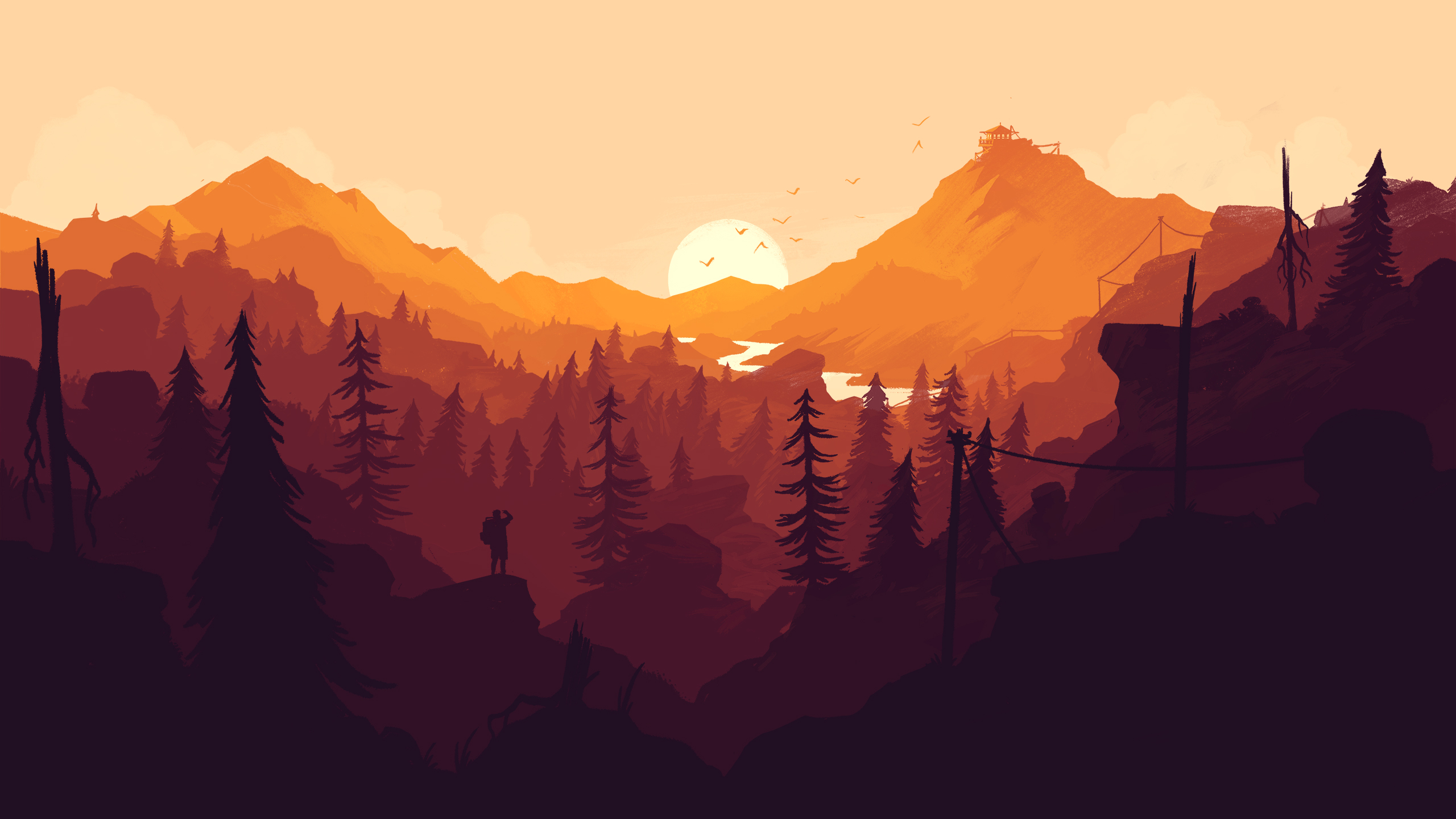 Firewatch wallpaper for iPhone and desktop my iGadget 2560x1440