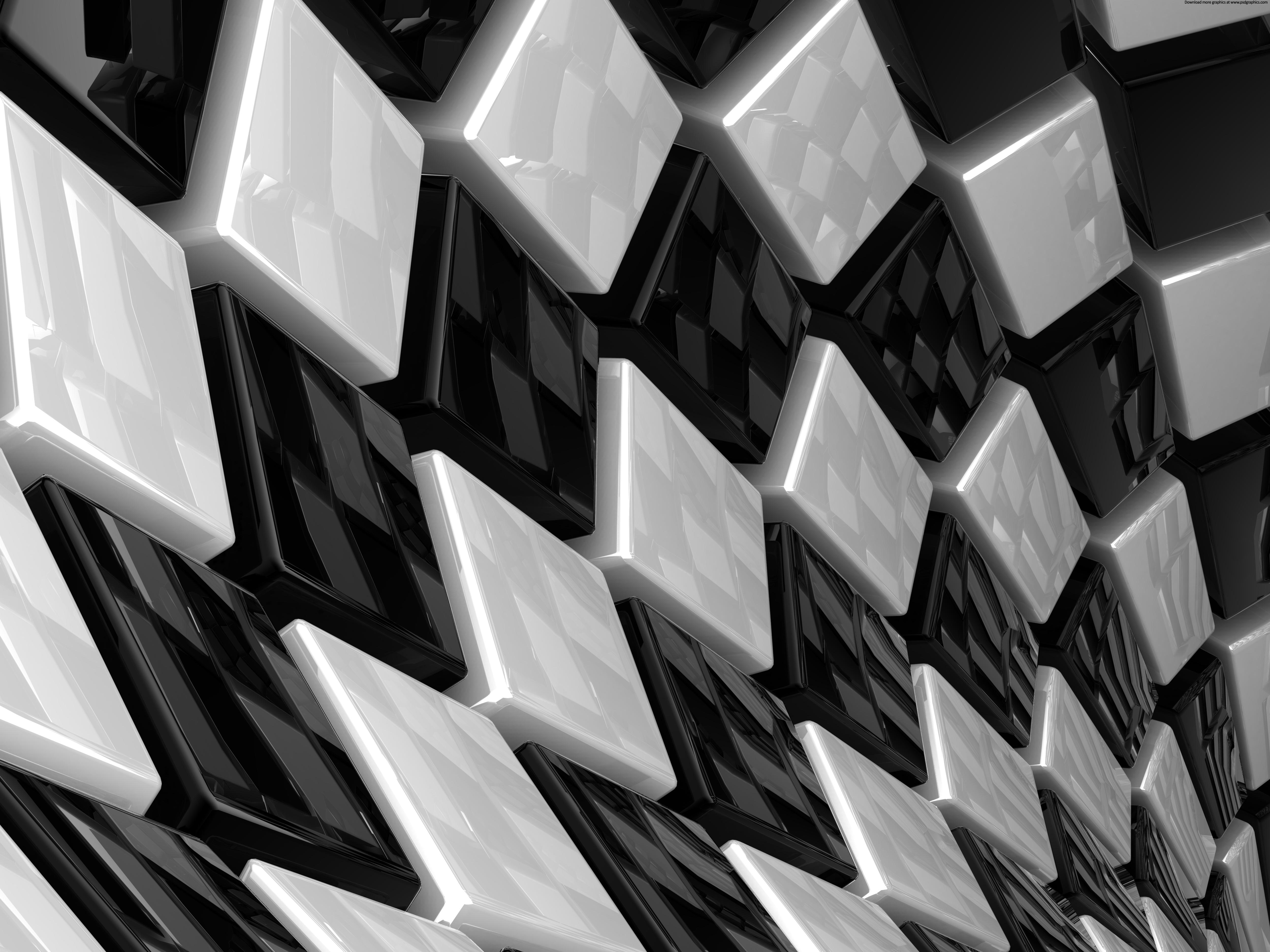 Black Cubes wallpaper 93506 5000x3750