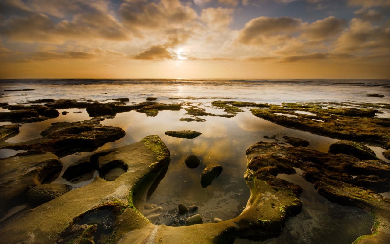 La Jolla Horseshoe Sunset 1280x800 wallpaper download page 338108 1280x800