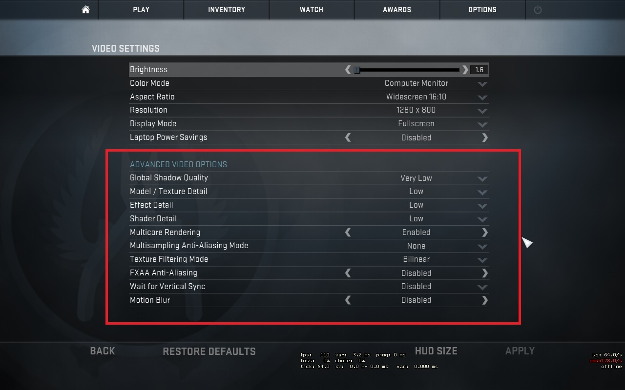 CS GO mouse and video settings Increasing your CS GO gameplay 1280x800