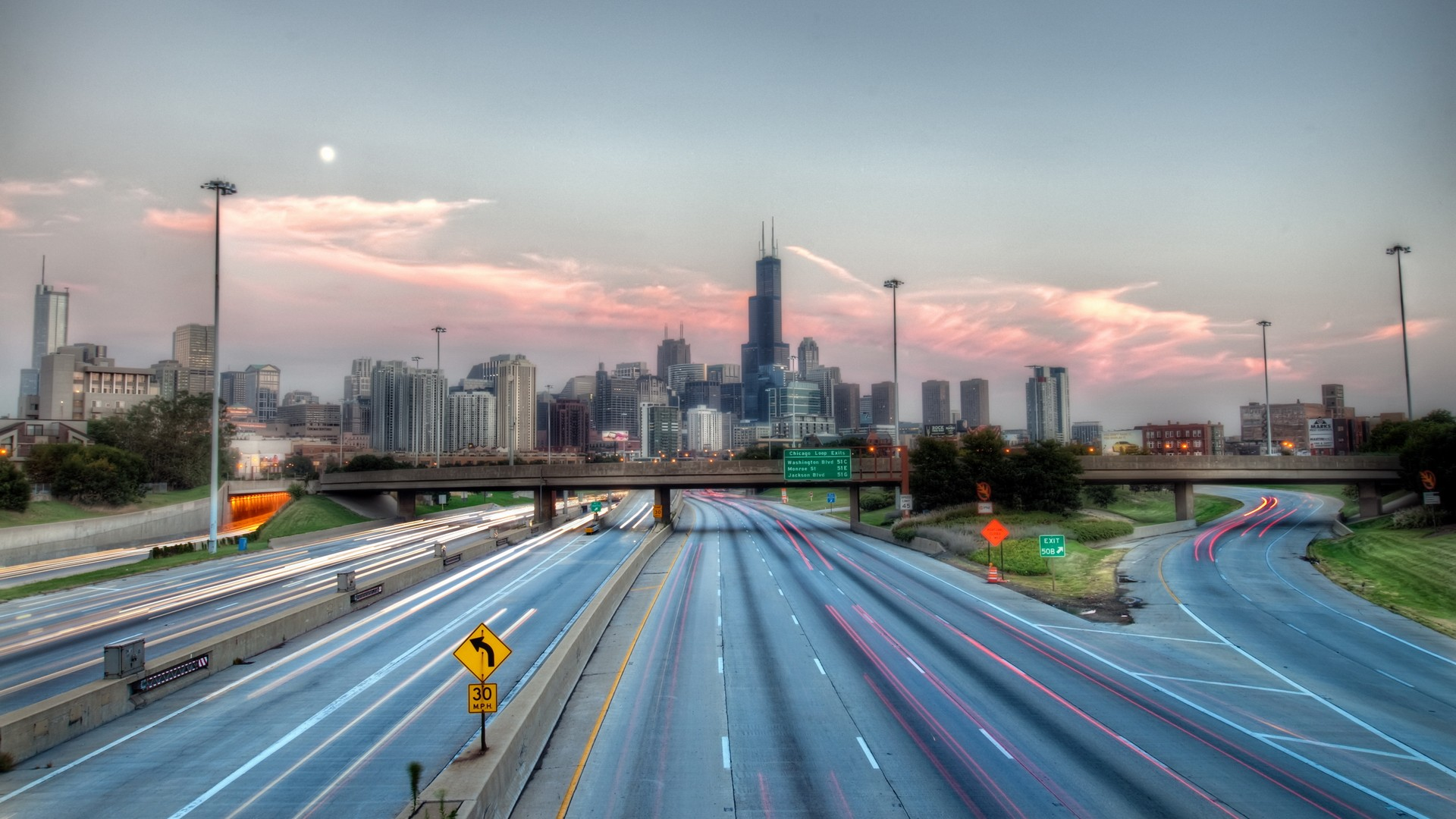 Chicago Highway Illinois   Wallpaper 36088 1920x1080