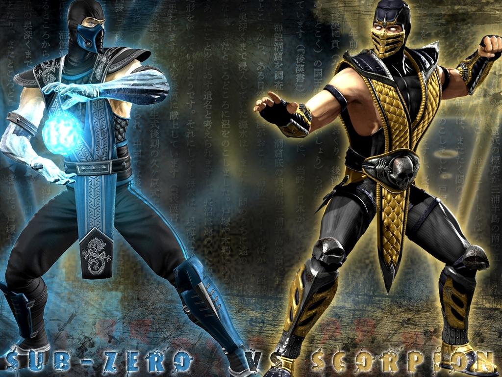Sub Zero VS Scorpion Mortal Kombat Wallpaper 1024x768