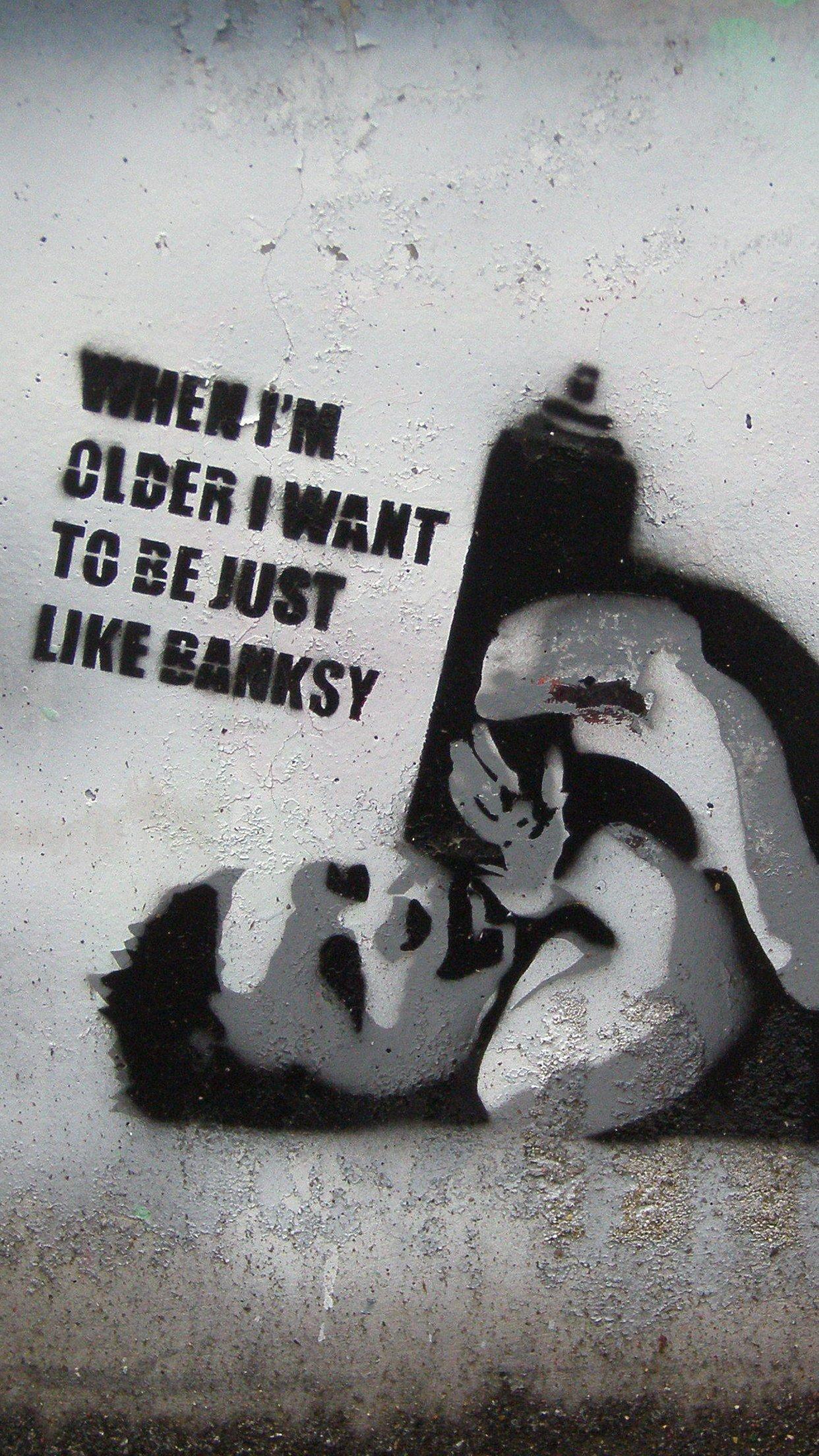 foto de 49+] Banksy iPhone 6 Wallpaper on WallpaperSafari