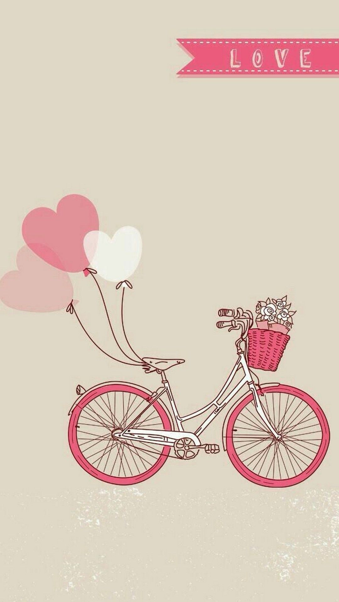 Cute Valentine For iPhone Wallpaper iPhoneWallpapers Bicycle 1080x1920