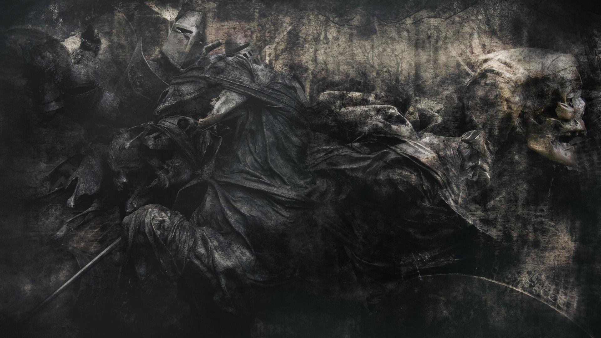 skulls evil skeleton reaper grim horror dead death gothic wallpaper 1920x1080
