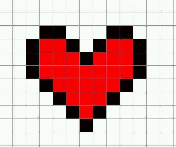 Minecraft template Heart by EMOxDmon 565x475