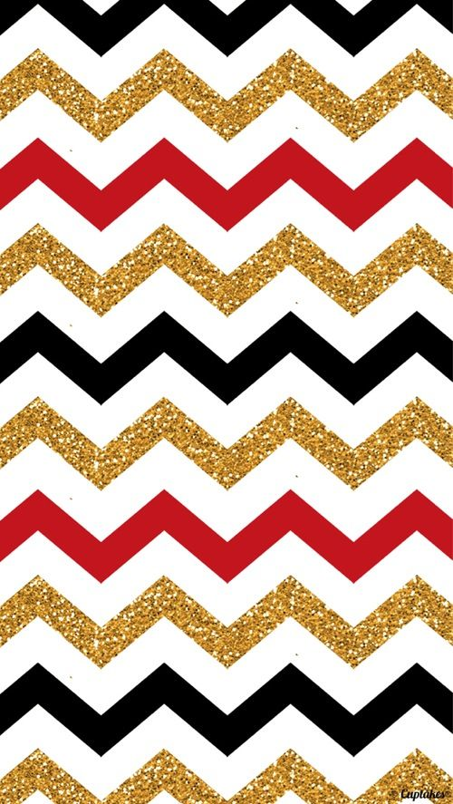Color inspiration   Red gold black zig zag Home sweet home 500x887