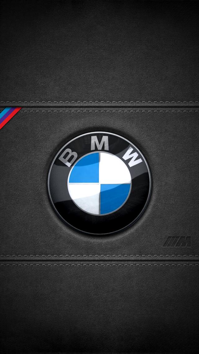 BMW leather logo iPhone 5 Wallpaper 640x1136 640x1136