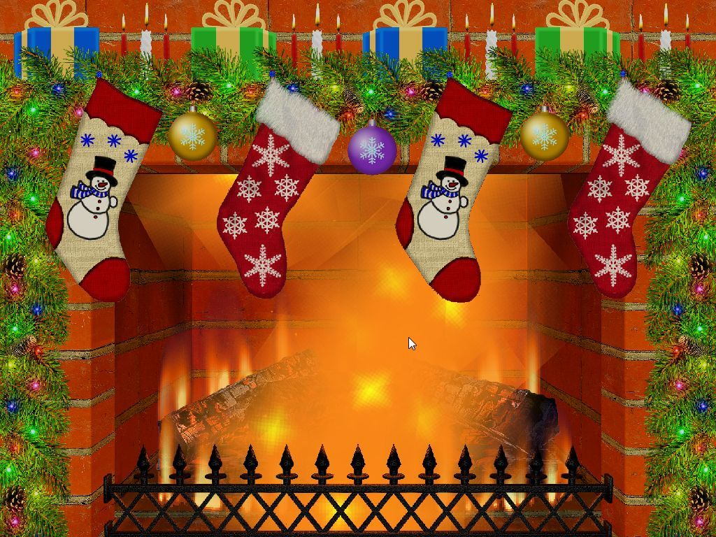 Christmas Fireplace Screen Saver Software Informer Screenshots 1024x768