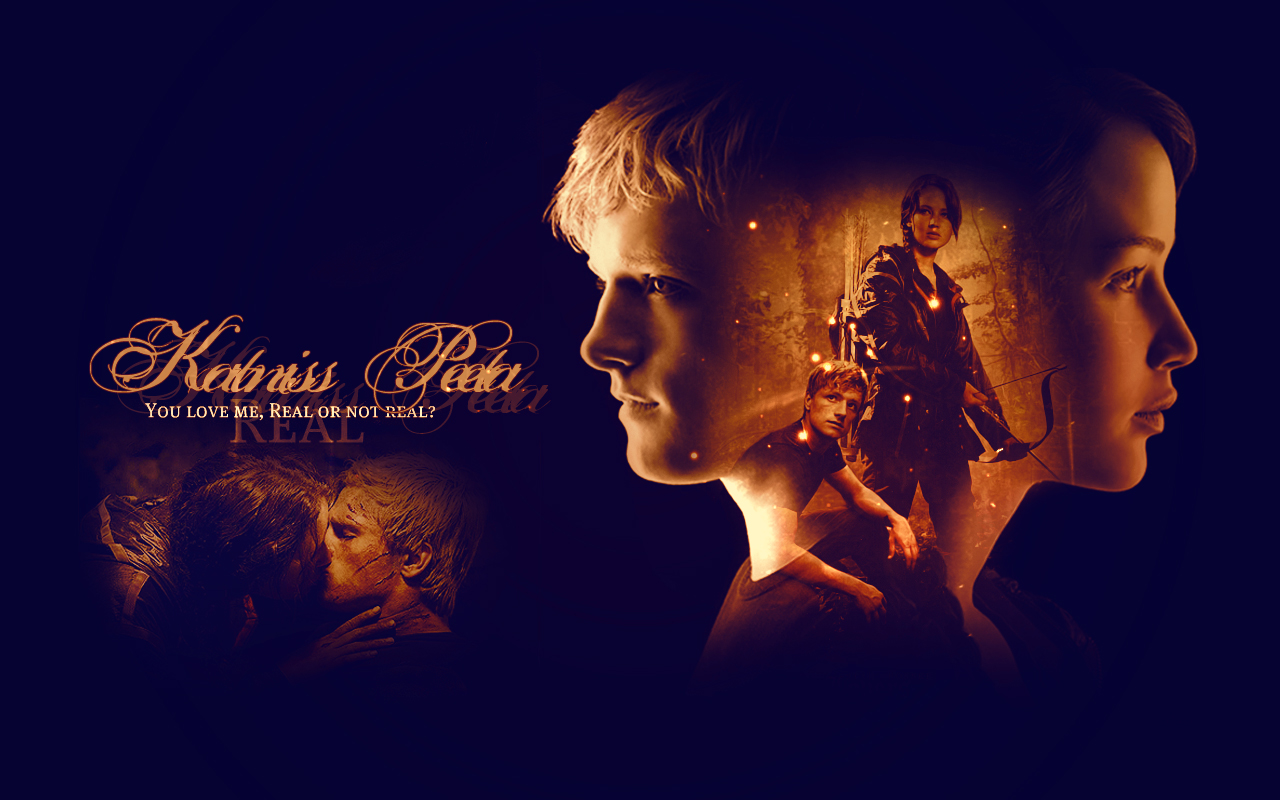 PeetaKatniss Wallpaper   Peeta Mellark and Katniss Everdeen 1280x800
