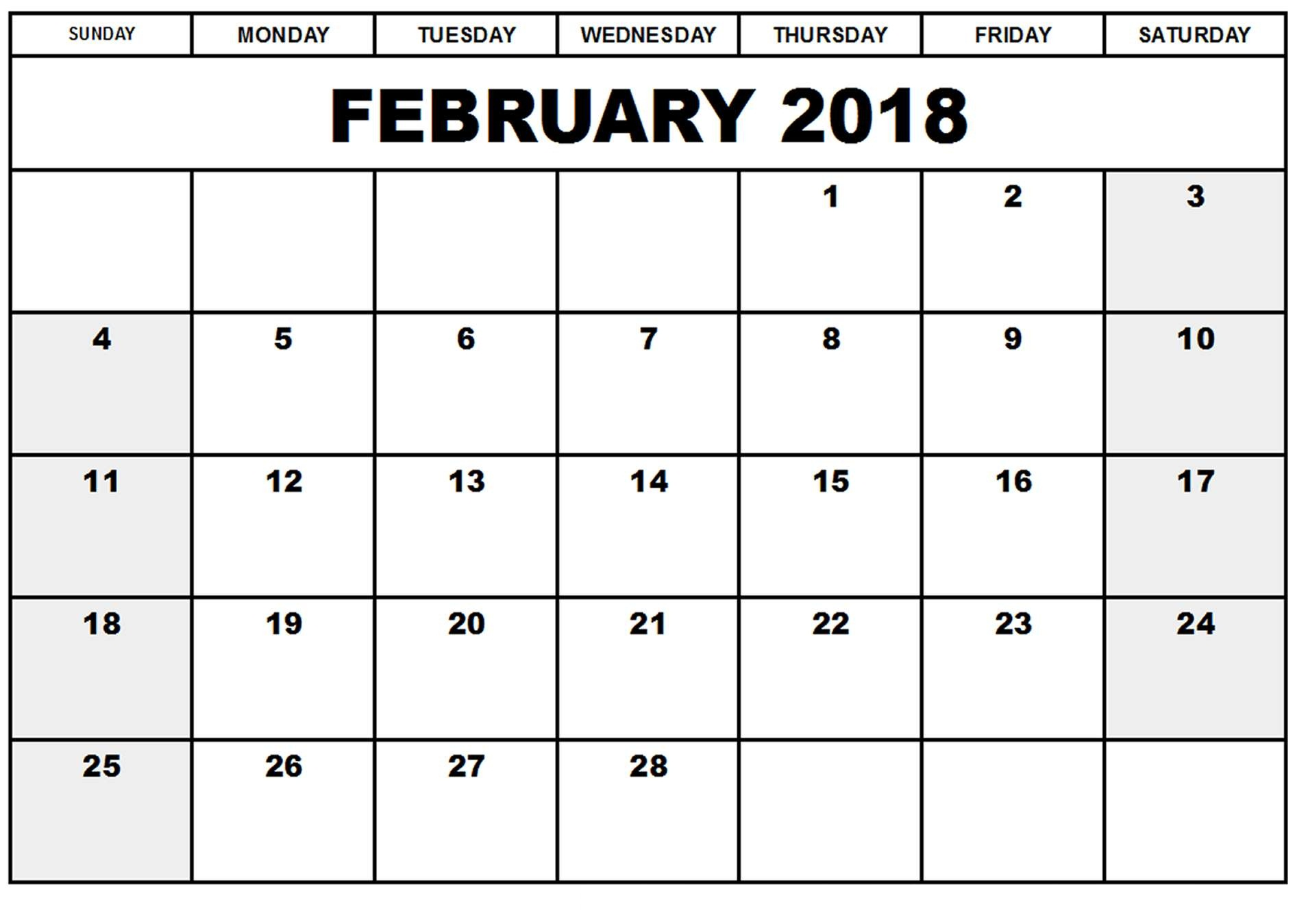 February 2018 Calendar Pdf Word Excel Template 1890x1336