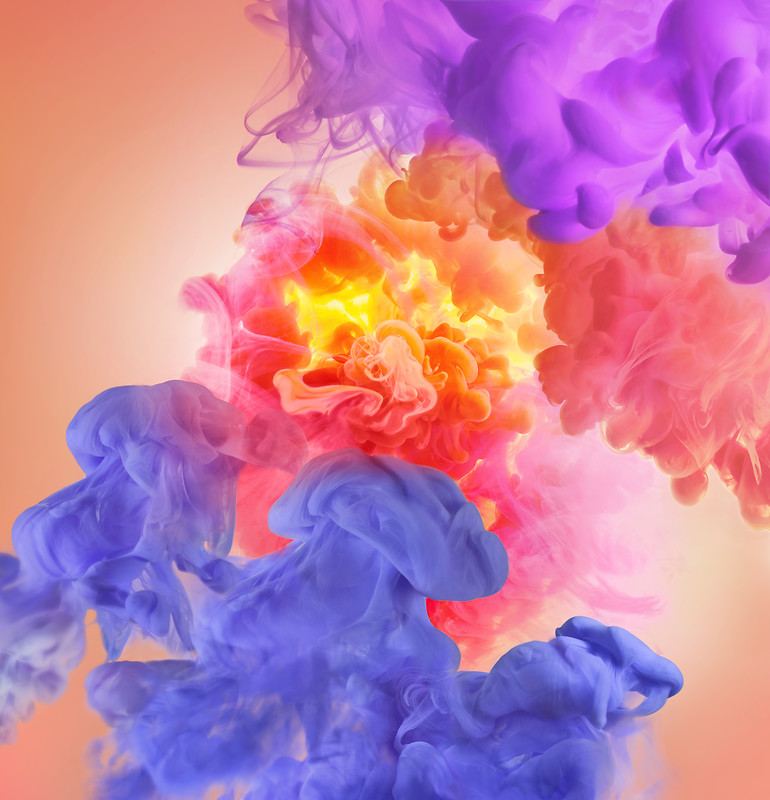 Colorful Clouds Huawei P20 Pro Stock Wallpaper download 770x800