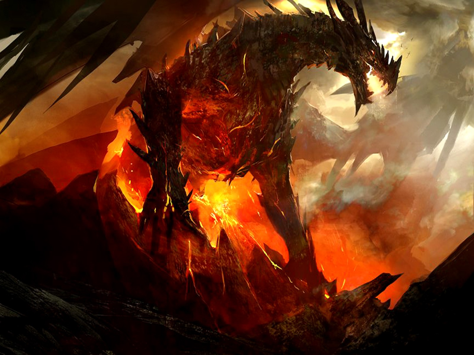 Download Dragons Fire Wallpaper 1600x1200 Wallpoper 245720 1600x1200