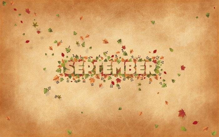 September ist da Es ist schon Herbst die Zeit des Jahres wenn alle 700x438