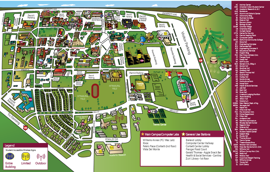 Free Download 21 Simple New Mexico State University Map Bnhspine