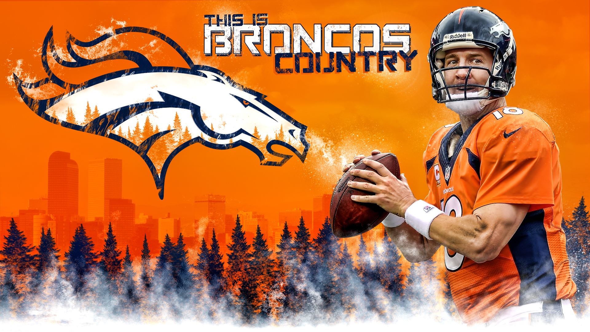 denver broncos peyton manning broncos country wall by 1920x1080