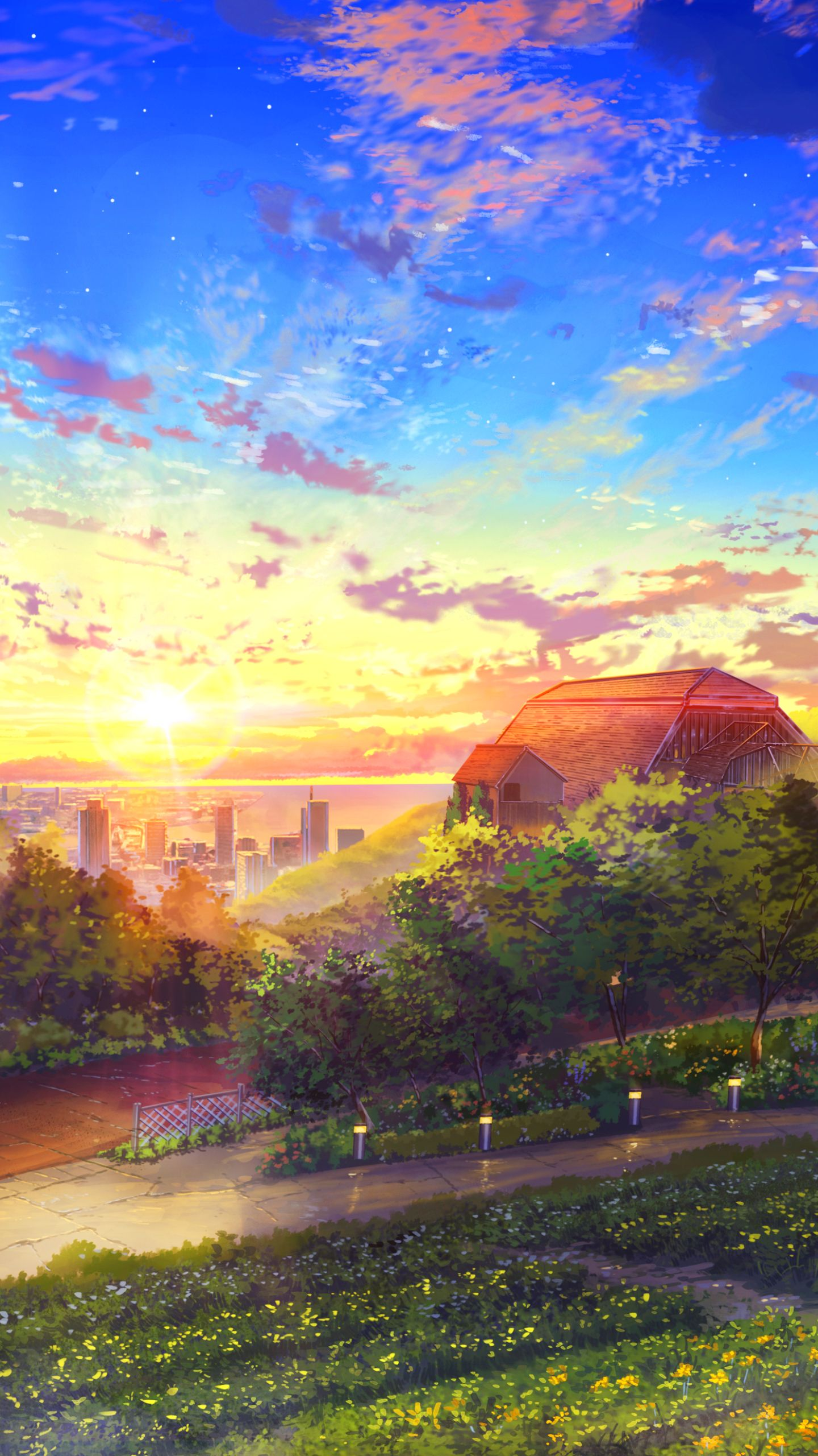 Anime Landscape Wallpaper Phone di 2020 1440x2560