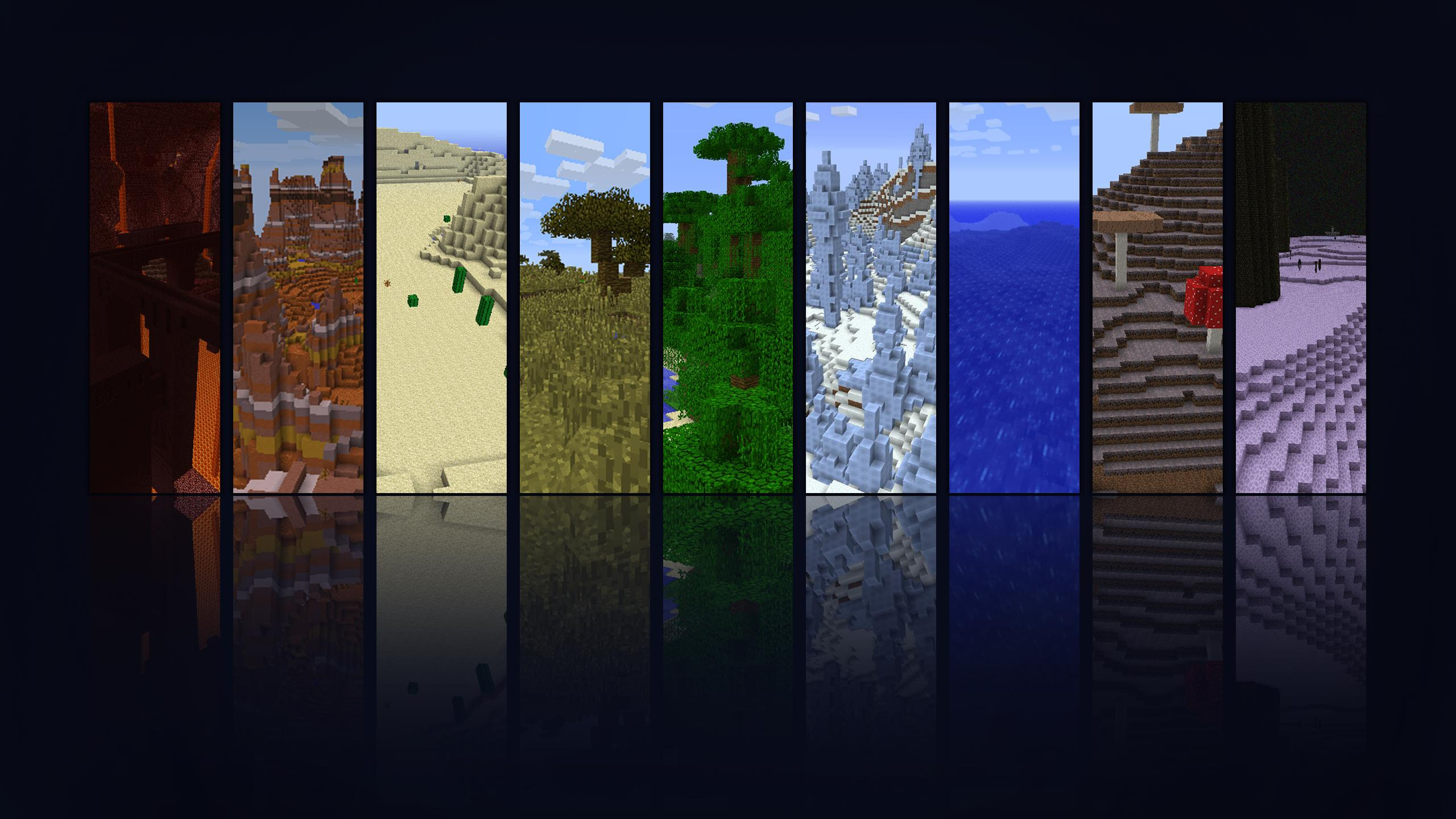 Minecraft Top Wallpapers for your desktop 1920 x 1080 plus 2560x1440