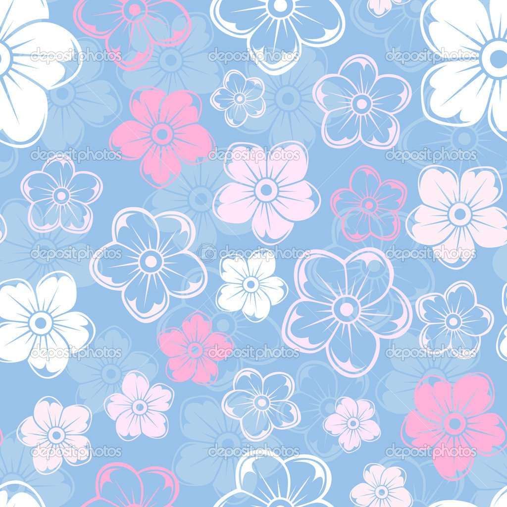 Free Download Pink And Blue Flower Backgrounds And Pink Flowers On