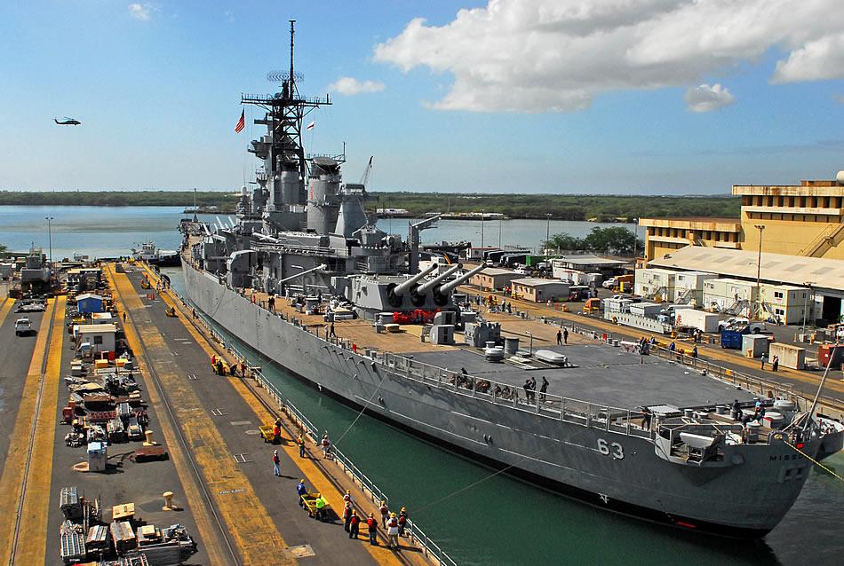Wallpaper EX USS Missouri Leaves Drydock High Definition Wallpapers 950x638