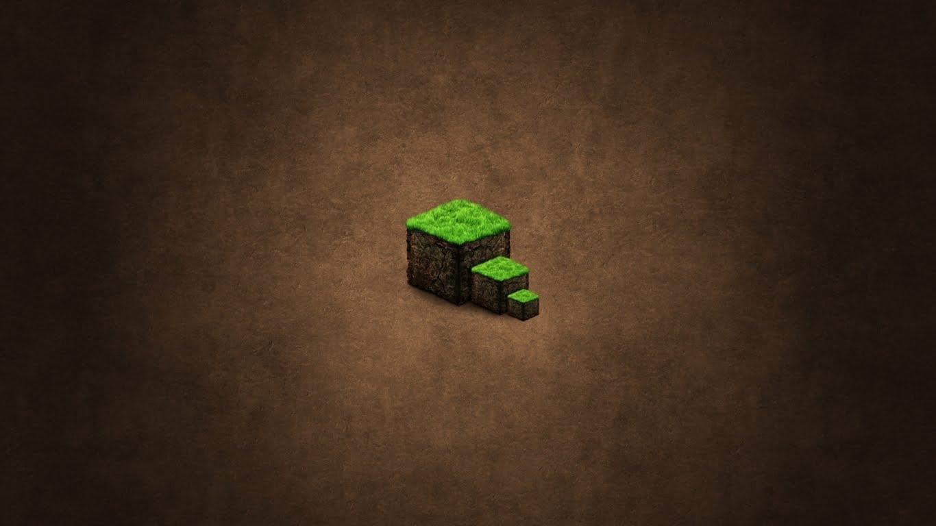 The Dirt Block Minecraft Wallpaper 1366x768