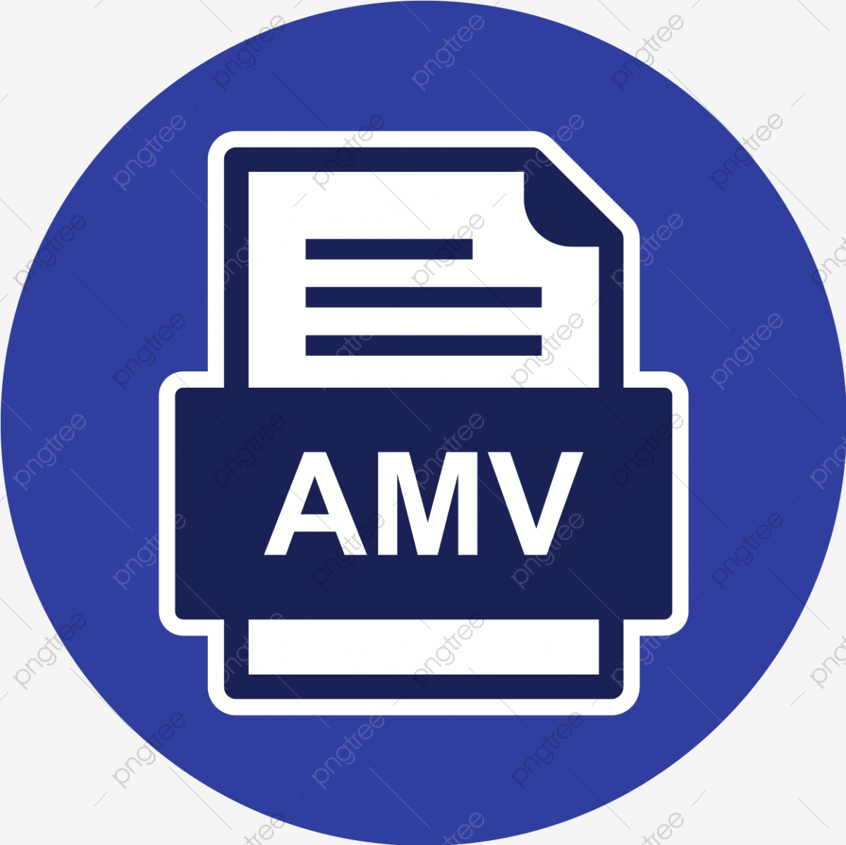 Amv File Document Icon Amv Document File PNG and Vector with 1200x1199
