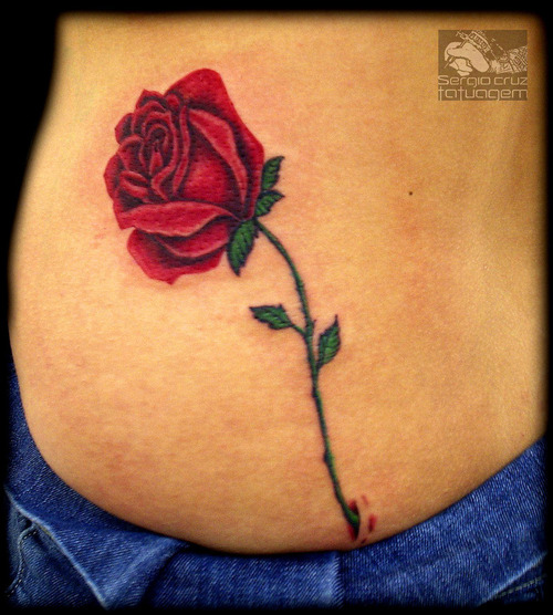 Realistic Rose Tattoo for Pinterest 500x556