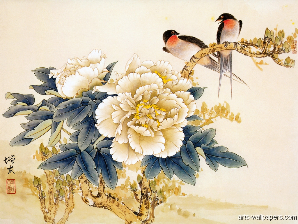 Chinese Painting Art Print Poster Wallpaper 1024x768