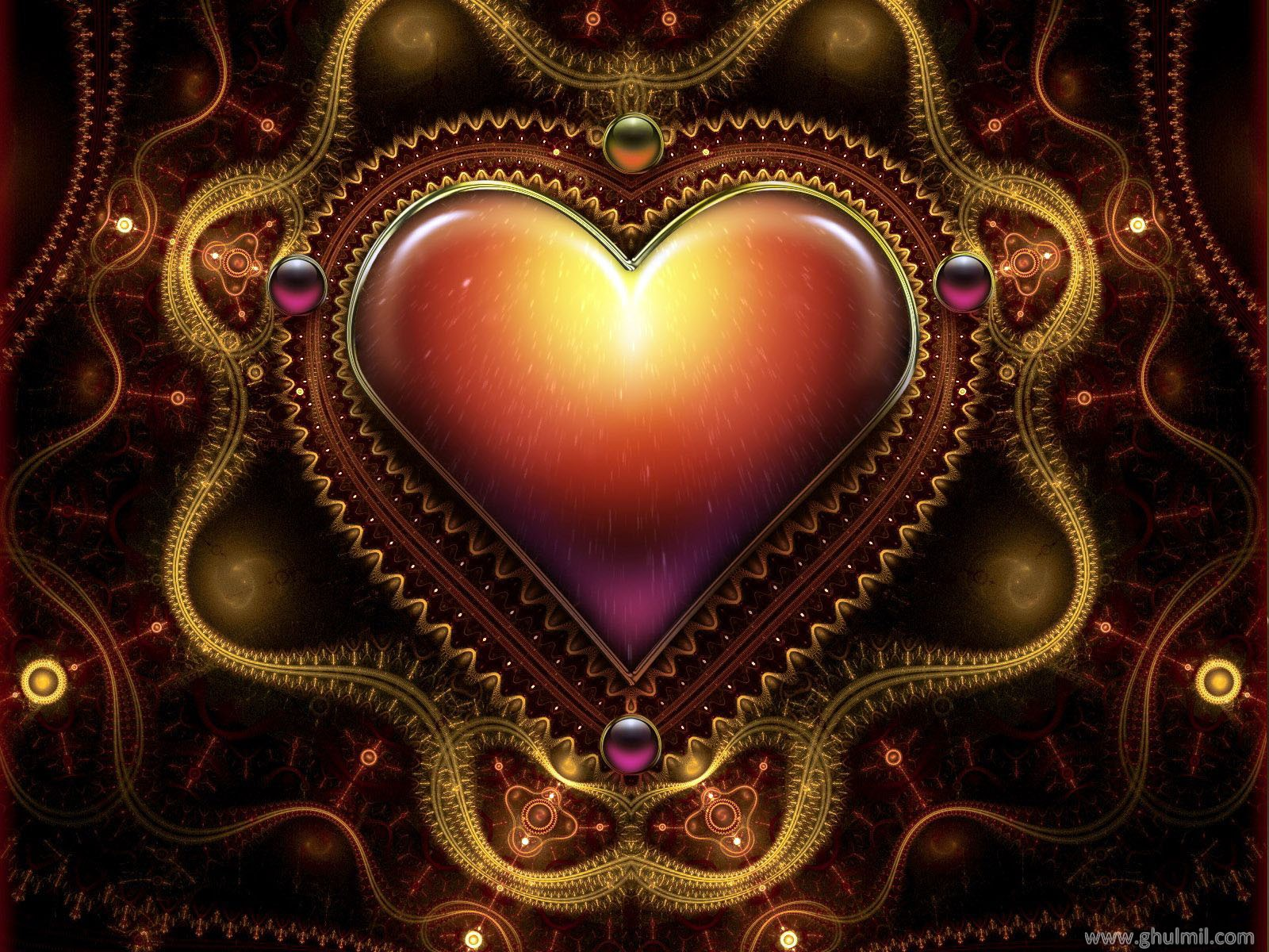 Beautiful 3d HD Heart Mobile Wallpaper | Free Mobile Wallpaper