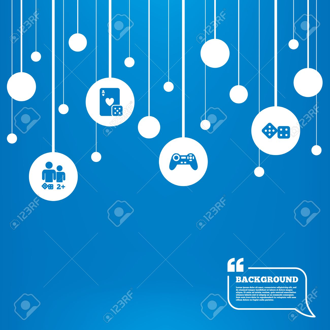 Circles Background With Lines Gamer Icons Board Games Players 1300x1300