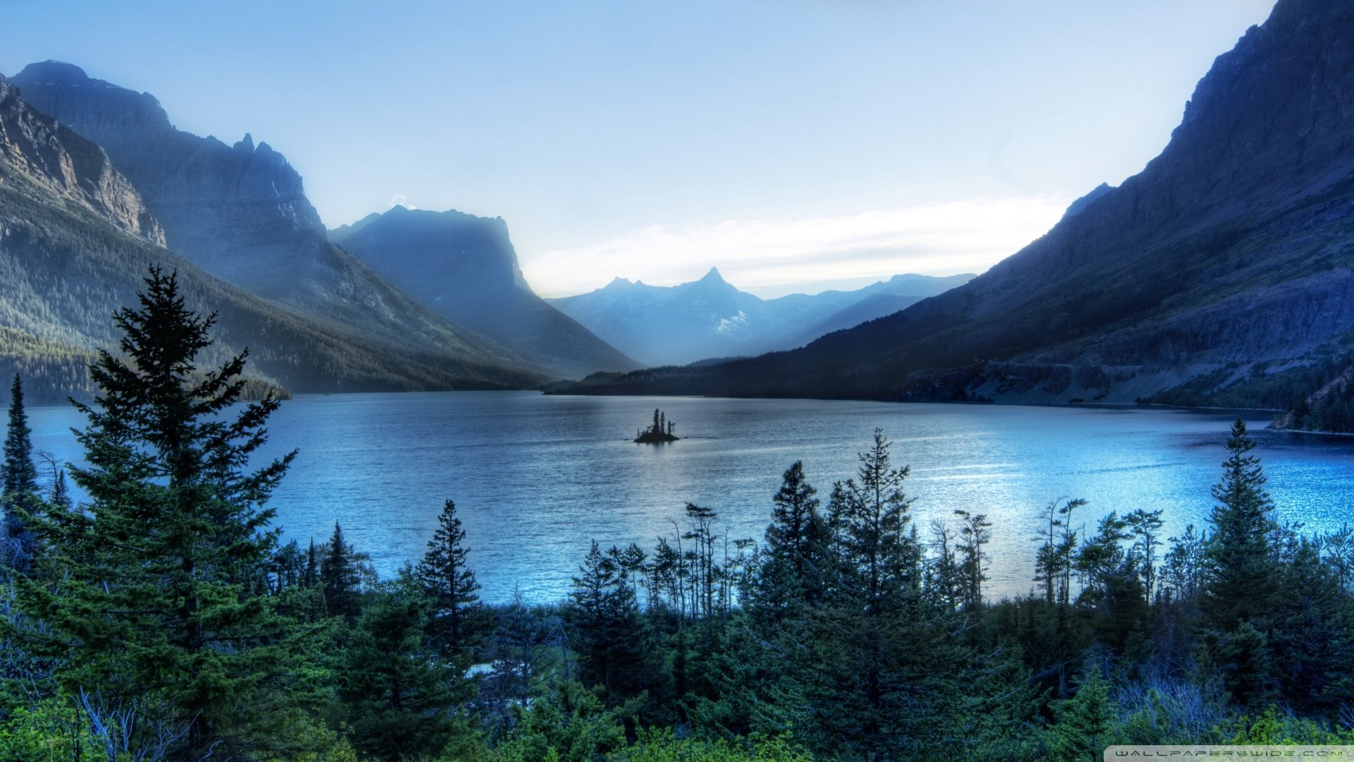 National Park Wallpaper 1920x1080 Morning At Glacier National Park 1920x1080
