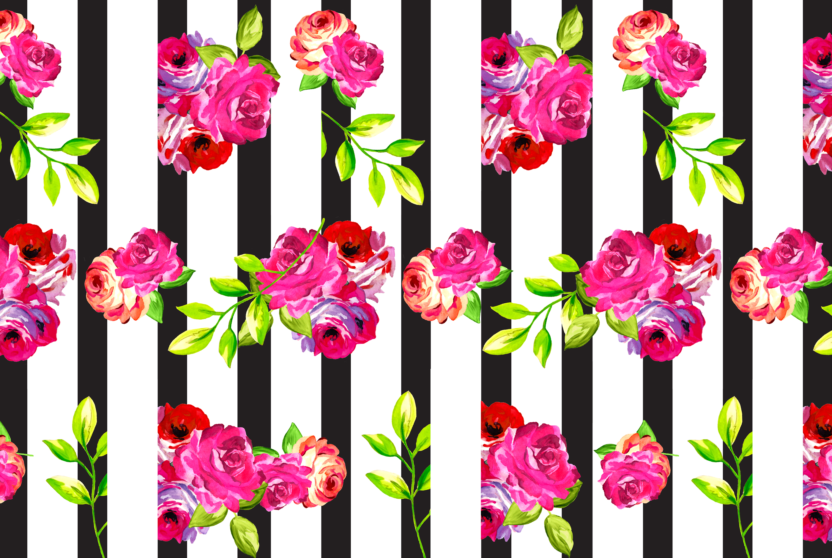 Free Download Floral Computer Wallpaper 435596 Floral And Stripes