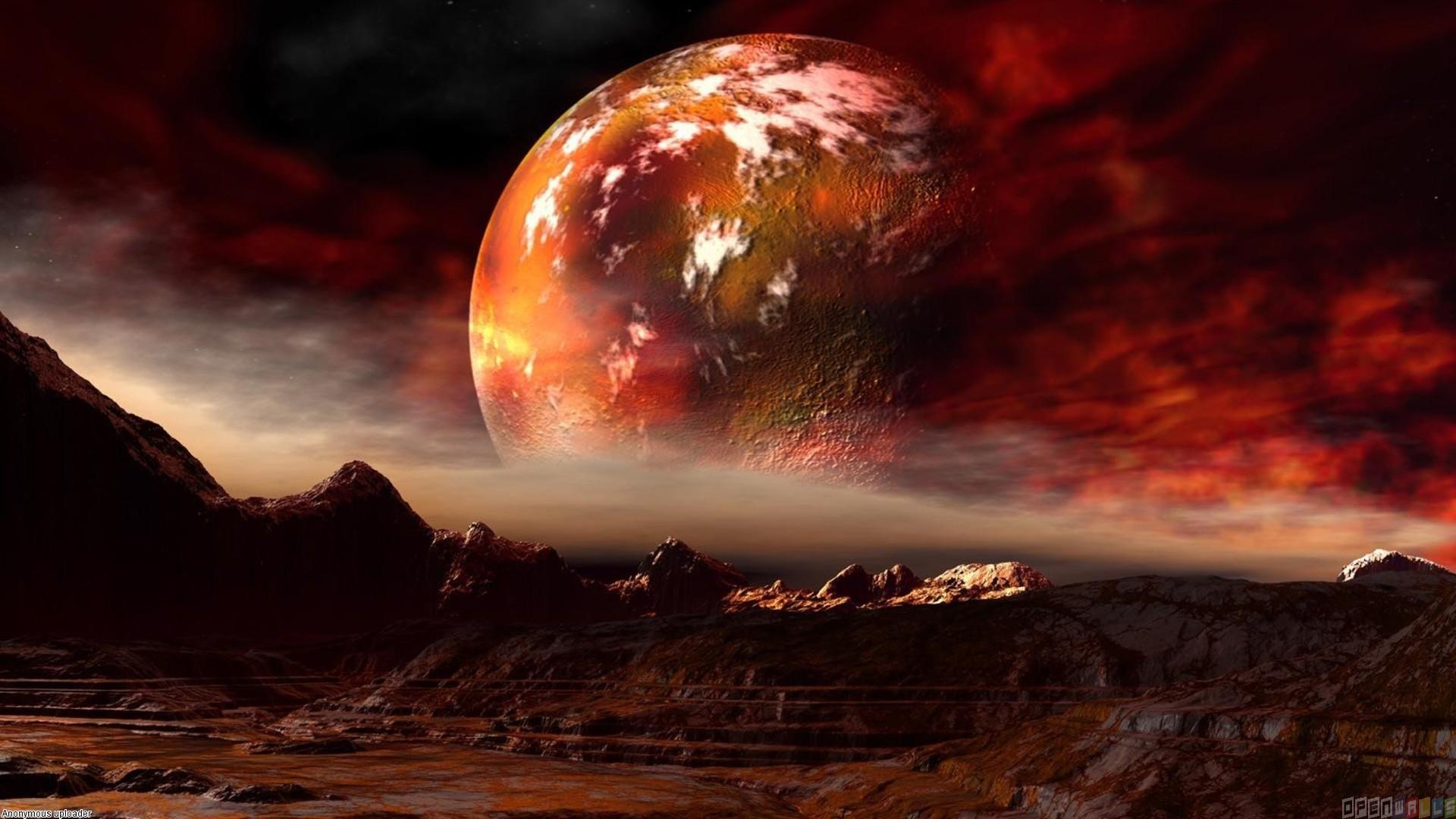Red Full Moon Wallpaper Planet Mars Wallpaper ...