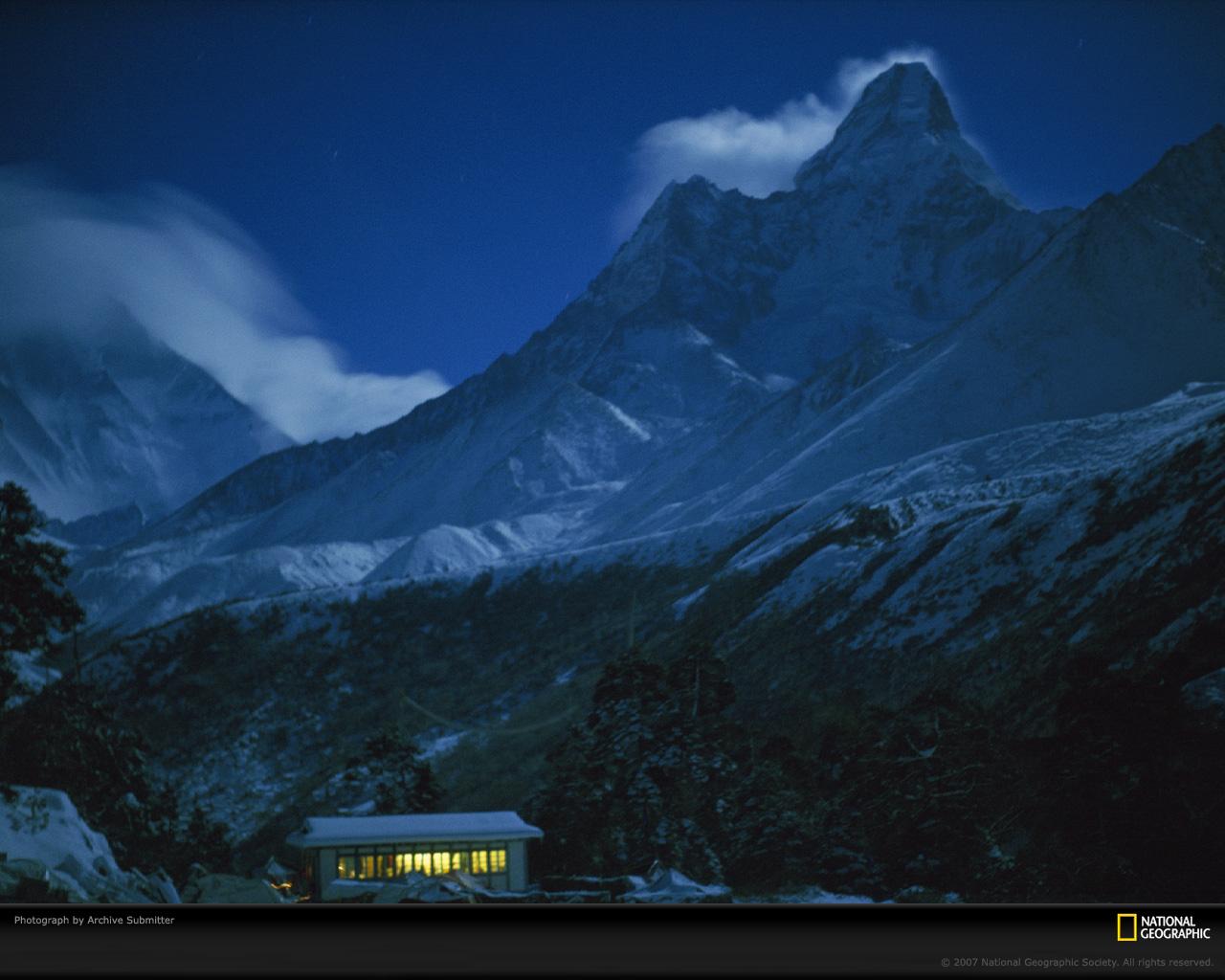 Evening at Himalayan Mountain Wallpaper   BestePics 1280x1024