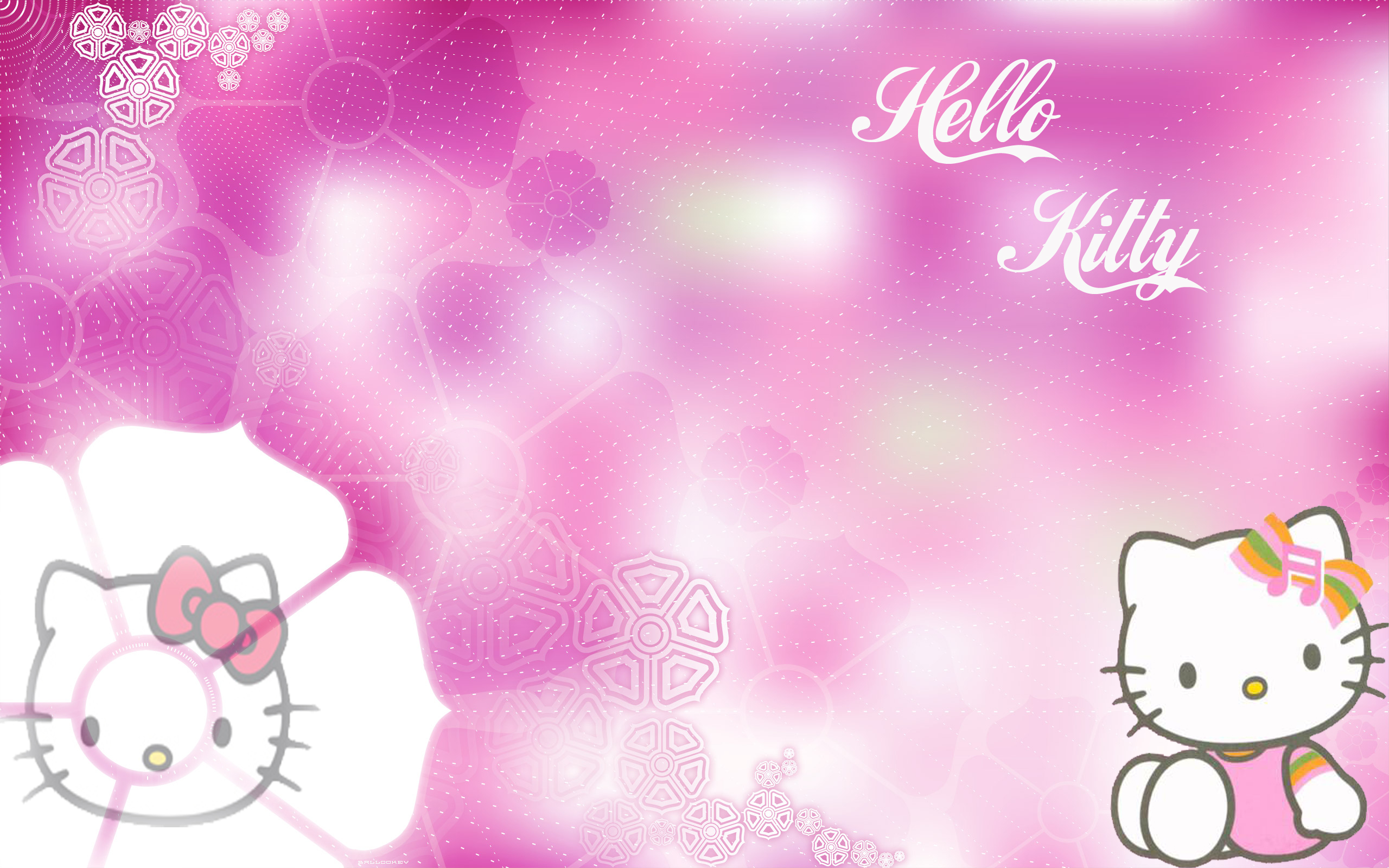 Valentine Kitty Wallpaper 2560x1600