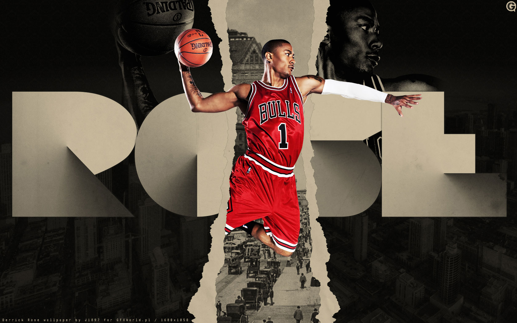 Derrick Rose Wallpaper The Red Red Rose of Chicago Bulls NBA 1680x1050