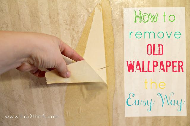 hip2thrift How to remove old wallpaper easily Bathroom Makeover 640x426
