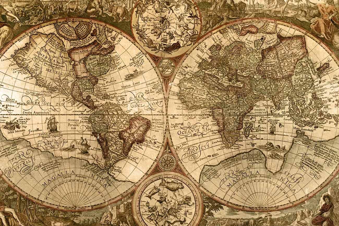 46+] Wallpaper Maps Old World on WallpaperSafari