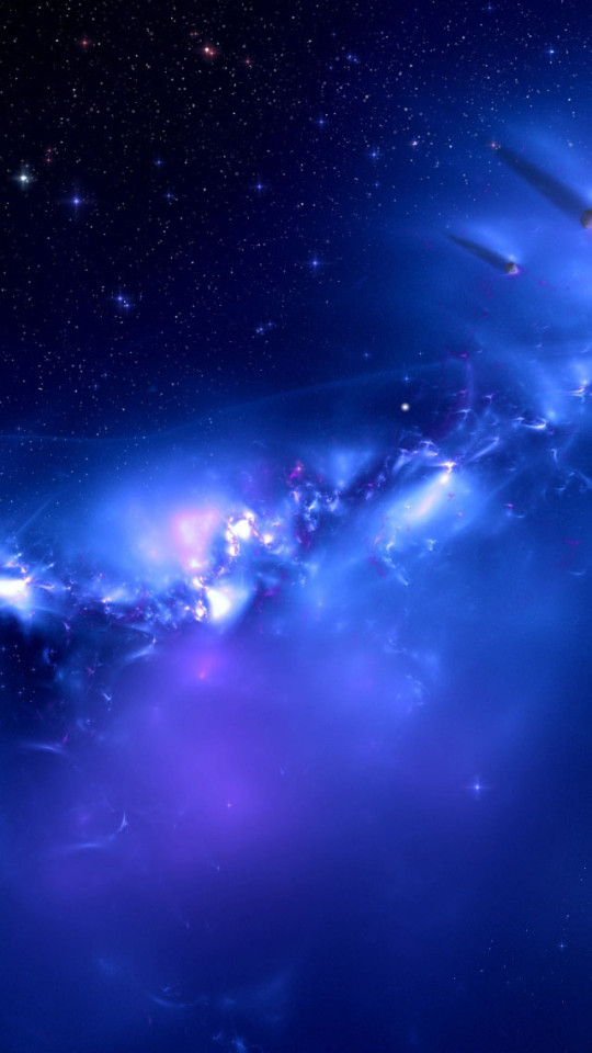 Blue Galaxy Distant Planets Wallpaper IPhone Wallpapers 540x960